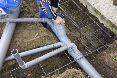 Разводка труб канализации в Подольске